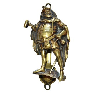 Drinking Man Shakespeare Door Knocker