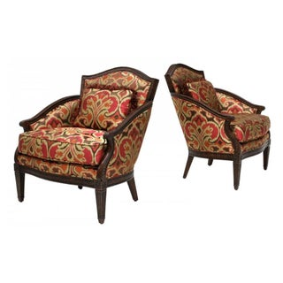 Louis XVI Style Lounge Armchairs - Pair