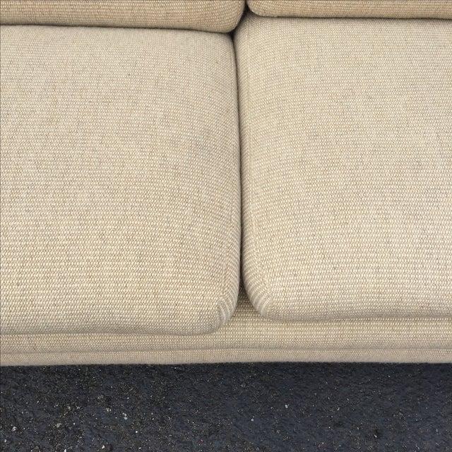 Mid Century Cream Sofa on Wood by Gunlocke Company - Image 6 of 10