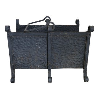 Hand Forged Iron Firewood Container
