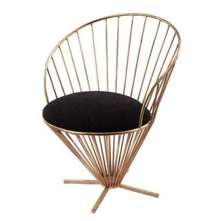 Black & Gold Hollywood Regency Chair