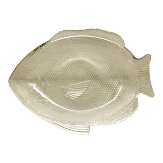 Vintage Pressed Glass Fish Platter