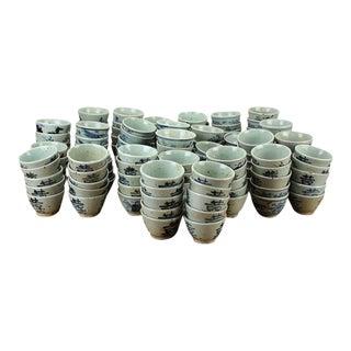 Sarreid Ltd. Vintage Blue & White Cups - Set of 316