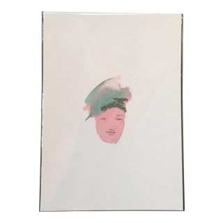Turban Face Watercolor Painting