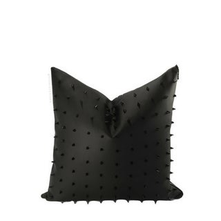 Spiked Faux Leather Handmade Pillow Case