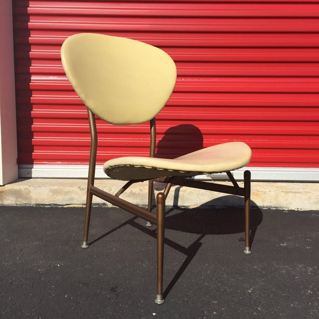 Mid-Century Modern Metal Framed Chair - Image 4 of 9