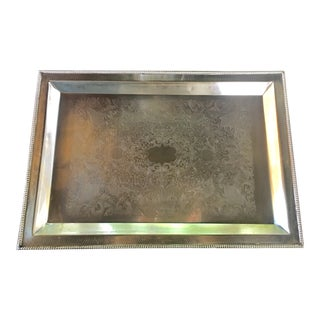 Indian Large Silverplate Tray