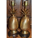 Image of Frederick Cooper Brass Pineapple Lamps - Pair