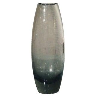 Holmegaard Per Lutken Smoke Gray Glass Hellas Vase