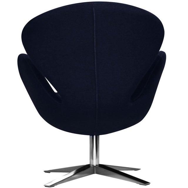 Image of Navy Swan Wool Chair Replica