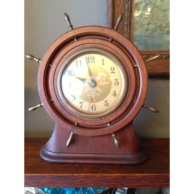 Vintage Seth Thomas Nautical Wheel Clock - Image 2 of 4