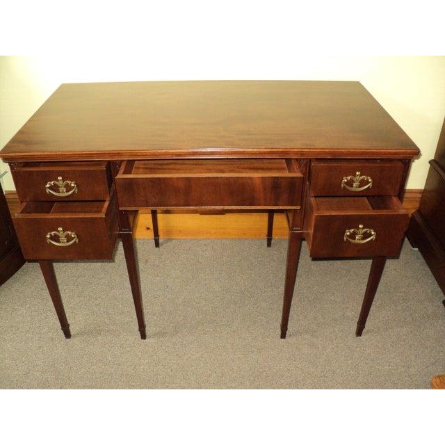 Antique Mahogany Writing Desk & Chair - Image 3 ... - Antique Mahogany Writing Desk & Chair Chairish