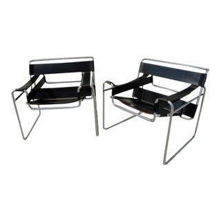 Gavina Italy Original Marcel Breuer Wassily Chairs - A Pair