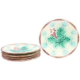 Majolica Dessert Plates - Set of 5