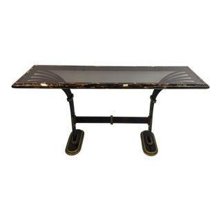 Maitland Smith Horn & Brass Console Table