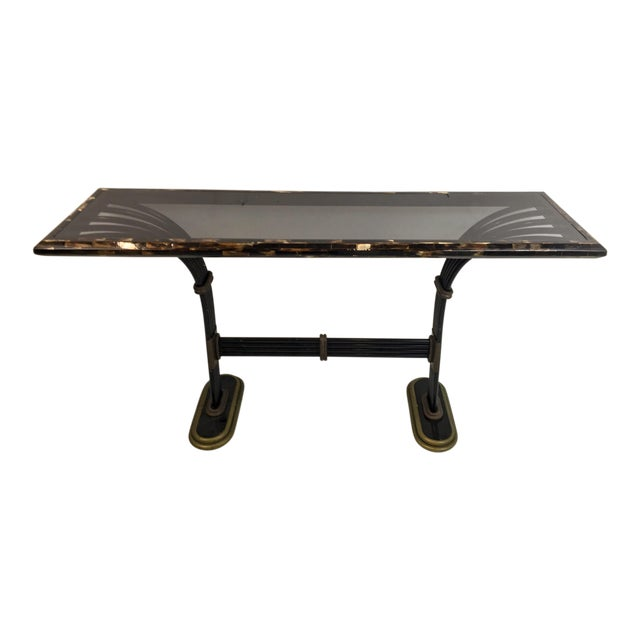 Maitland Smith Horn & Brass Console Table - Image 1 of 8