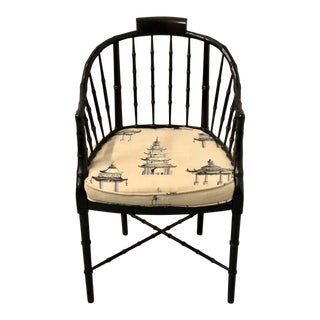 Baker Chinoiserie Arm Chair