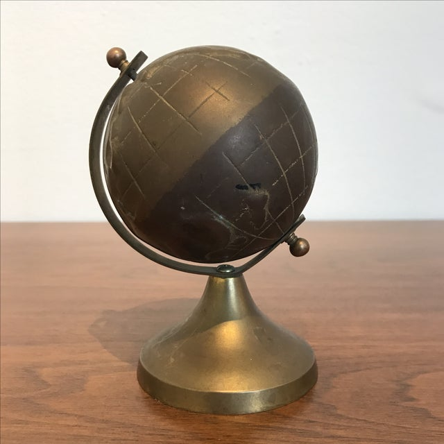Small vintage brass globe chairish for Sf globe tiny homes