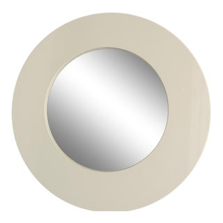 White Lacquer Round Mirror From Crate & Barrel