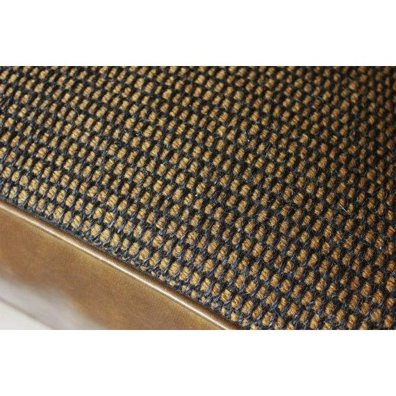 Leather & Tweed Tufted Back Armchair - Image 6 of 6