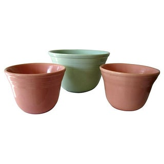 Mission Bell Pottery Planters - Set of 3