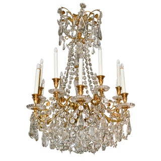 19th C. French Baccarat Crystal Chandelier