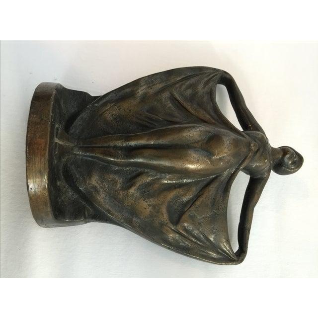 Antique Art Deco Cast Iron Bookends - A Pair - Image 4 of 6