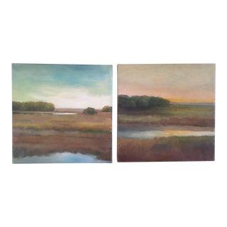 Elsie Gonella Plein Air Landscape Oil Paintings - A Pair