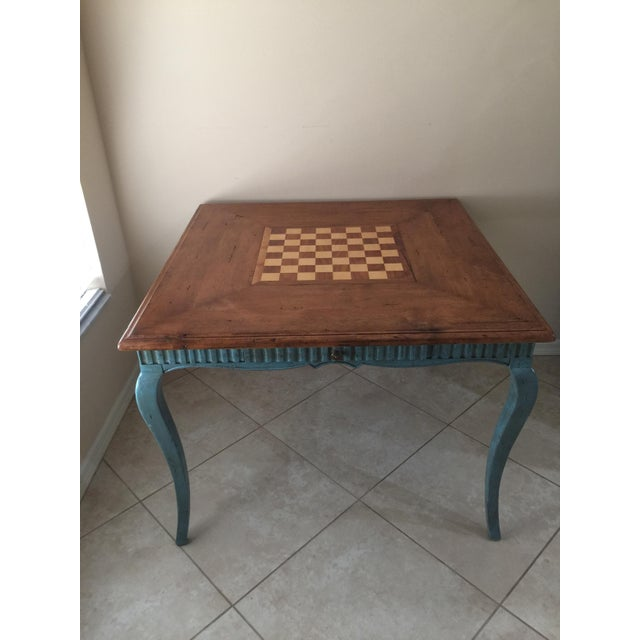 French Country Game Table - Image 7 of 7