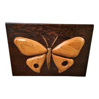 Butterfly Sculptured Wood Art