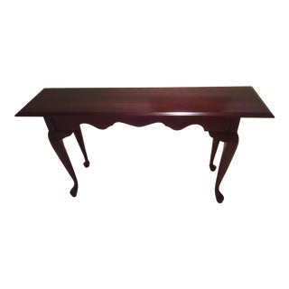 Pennsylvania House Solid Cherry Queen Anne Sofa Table