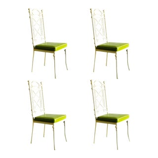 Kessler Cast Iron Bamboo Chairs / Set of Four