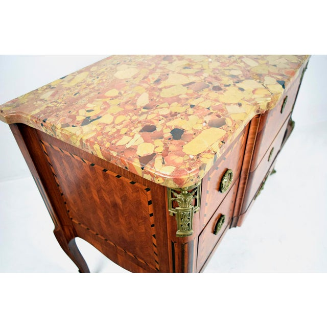 Traditional 19th Century French Louis XVI-style Inlaid Chest of Drawers - Image 7 of 11