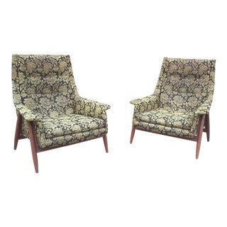 Adrian Pearsall Style Arm Chairs-A Pair