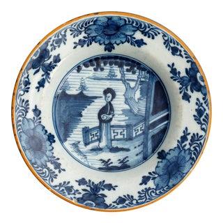 Antique 'Long Eliza' Dutch Delft Plate