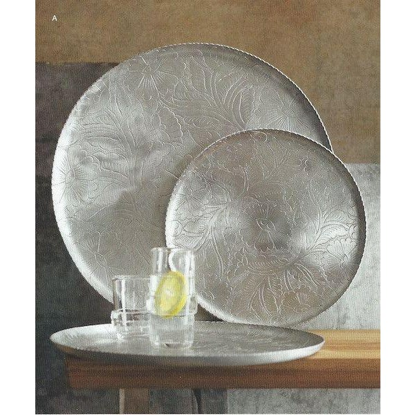 Image of Silver Etched Metal Nesting Trays - 3