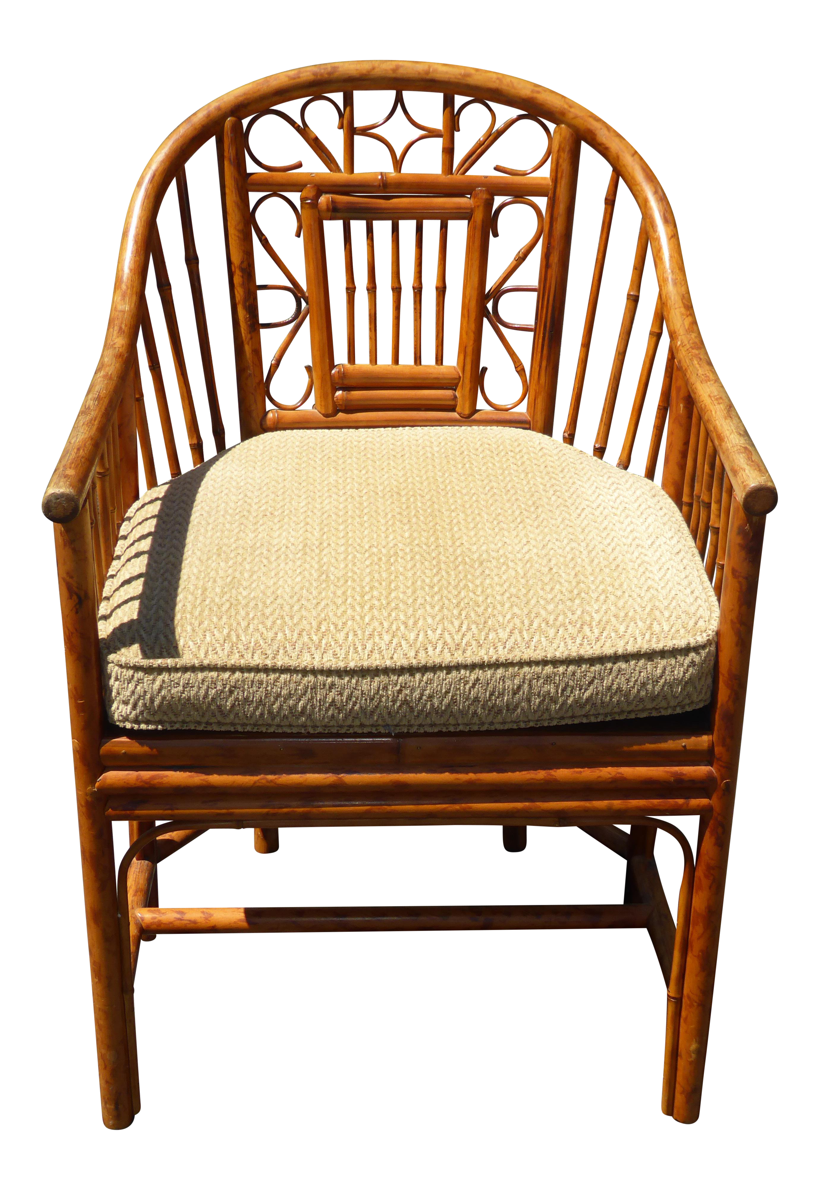 Vintage Chinoiserie Brighton Pavillion Style Rattan Bamboo U0026 Cane Arm Chair