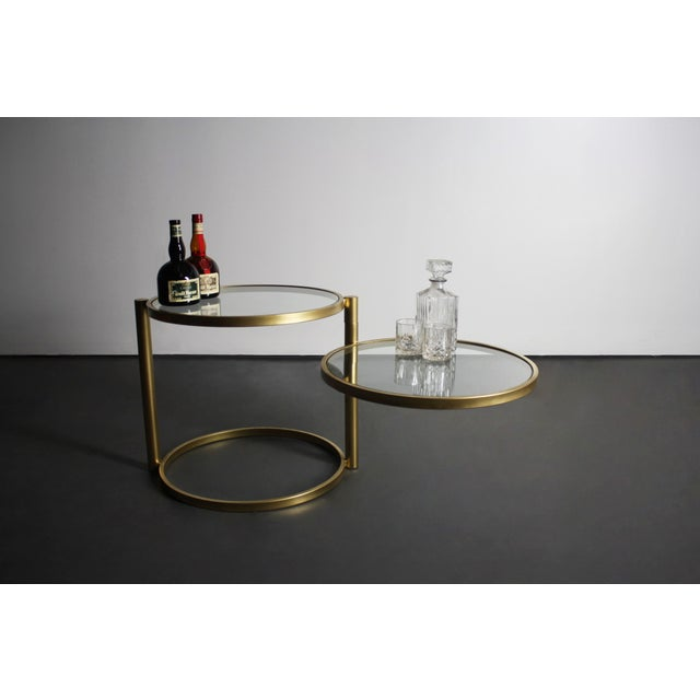 Milo Baughman Brass Two-Tiered Coffee Table