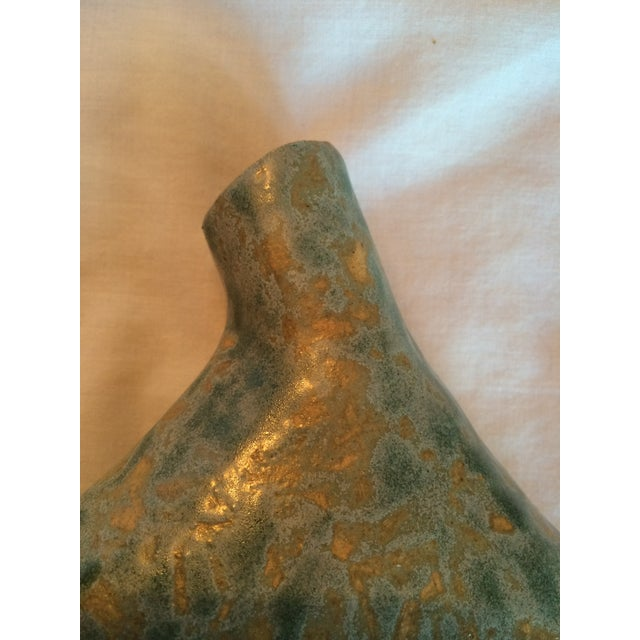 Turquoise & Gold Ceramic Ravens Vase - Image 6 of 7