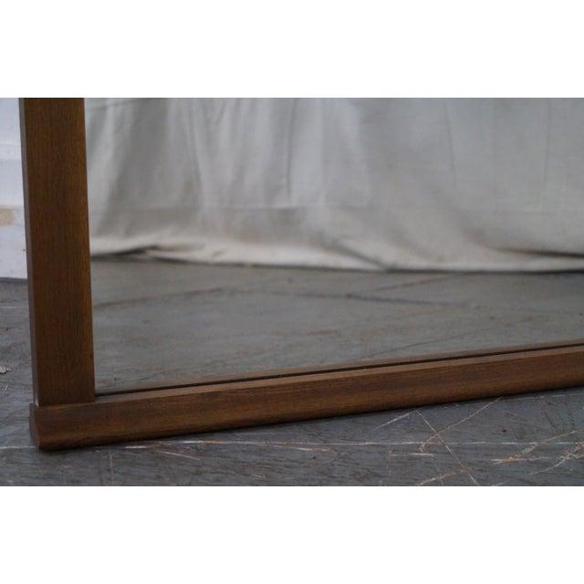 Mid-Century Modern Walnut Rectangular Wall Mirror - Image 9 of 10