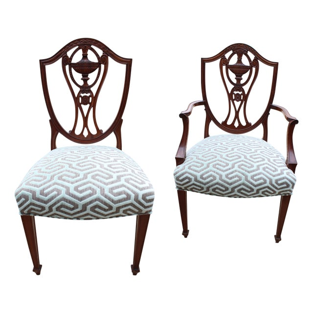 Image of Traditional Wooden Dining Chairs - Set of 10