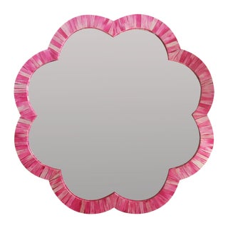 Pink & Ivory Bone Inlay Wall Mirror