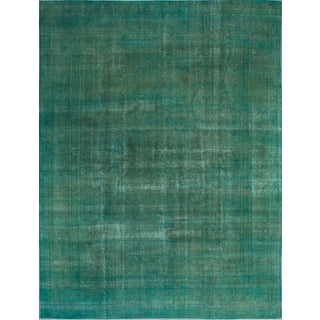 """Green Vintage Persian Overdyed Rug - 9'4"""" X 12'9"""""""