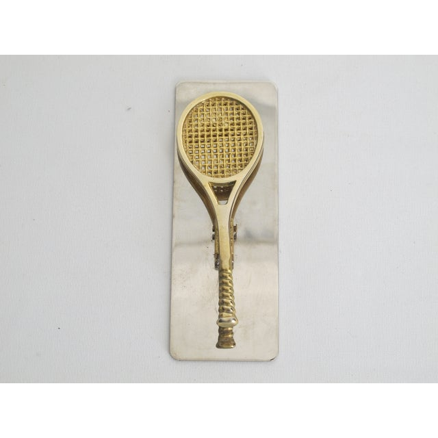 Brass and Silverplate Tennis Racket Clip - Image 4 of 5