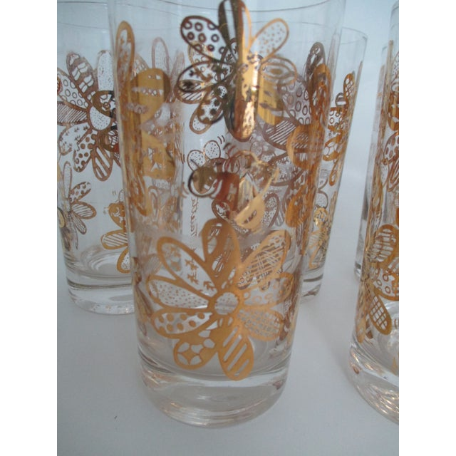 Image of Frank Maietta Tumblers Daisies & Bees - Set of 8