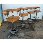 Image of Vintage Vinyl Bar Stools - Set of 4