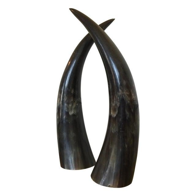 Sculptural Horns - A Pair - Image 1 of 3