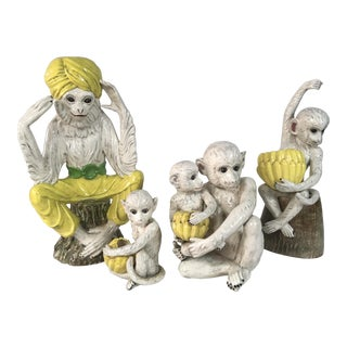 1960s Italian Monkey Family Figurines - Set of 4