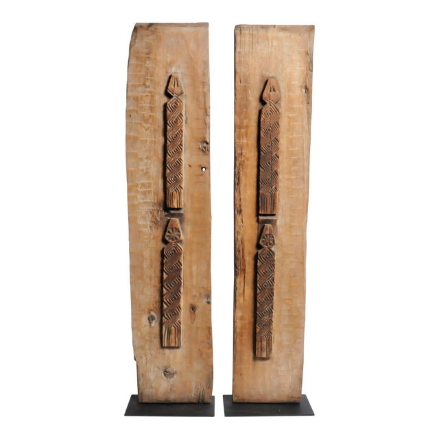 Carved Wooden Door Panel on Stands - Image 1 of 11
