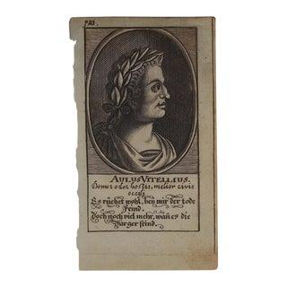 Antique Engraving Kings/Rulers C.1600